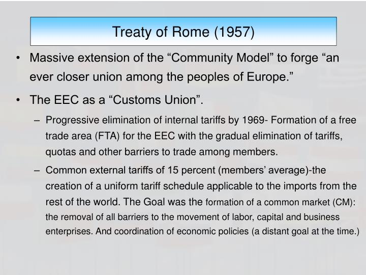 Treaty of Rome (1957)