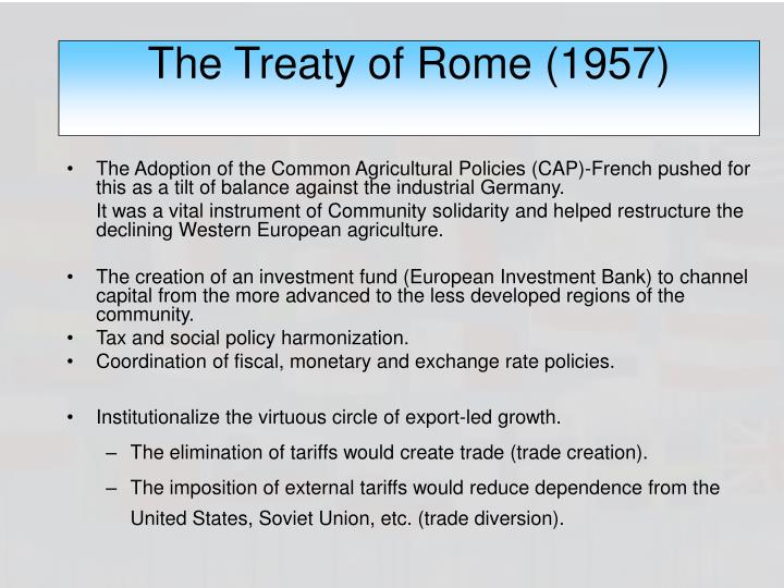 The Treaty of Rome (1957)
