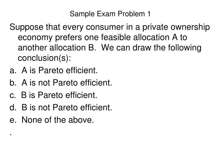Sample Exam Problem 1
