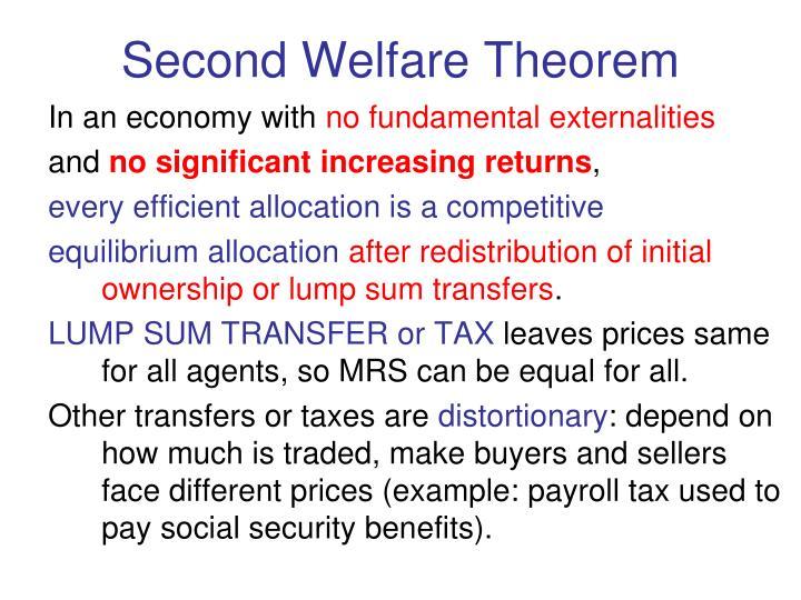 Second Welfare Theorem