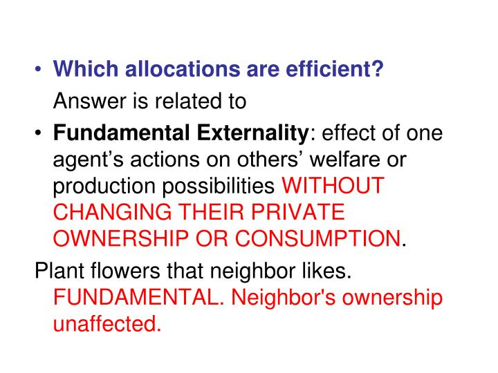 Which allocations are efficient?