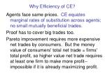 why efficiency of ce