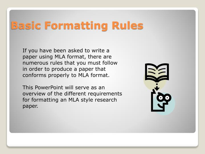 Basic formatting rules