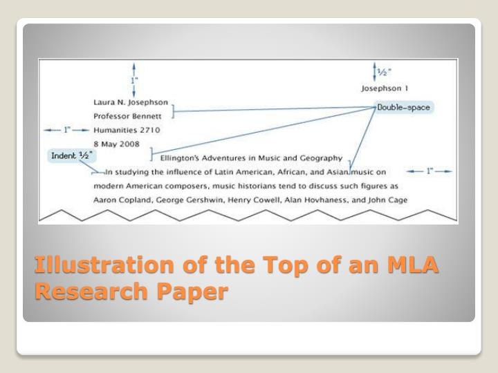 Illustration of the Top of an MLA Research Paper