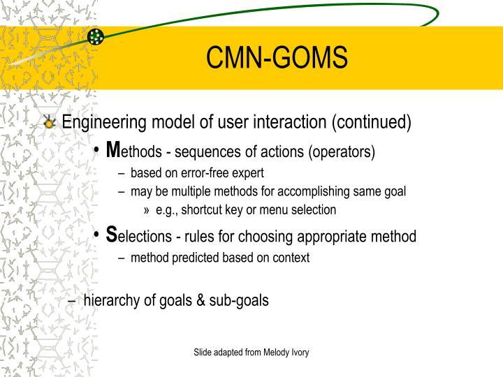 CMN-GOMS