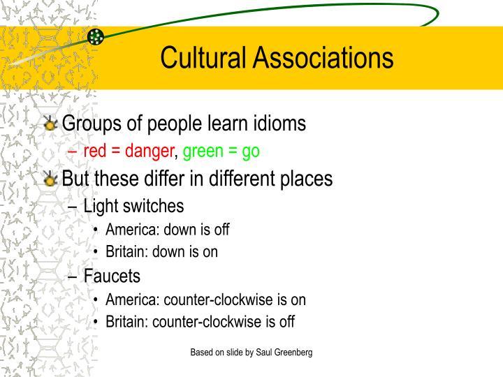 Cultural Associations
