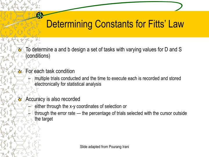 Determining Constants for Fitts' Law