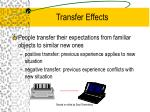 transfer effects