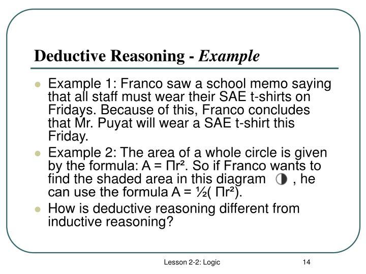 Deductive Reasoning -
