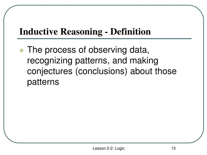 Inductive Reasoning - Definition