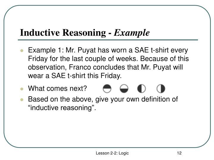 Inductive Reasoning -