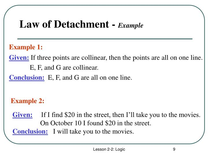 Law of Detachment -