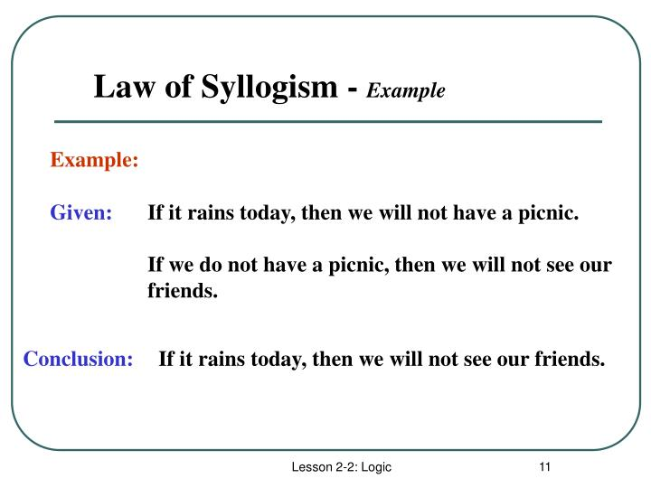 Law of Syllogism -