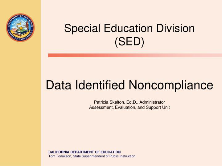 Special Education Division