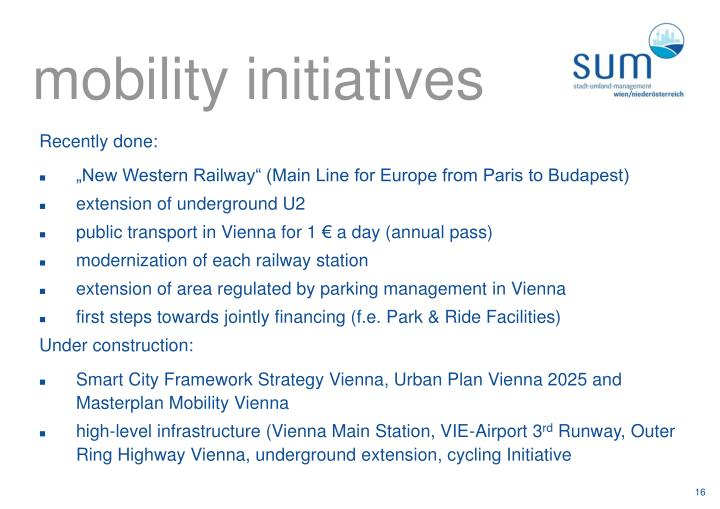 mobility initiatives