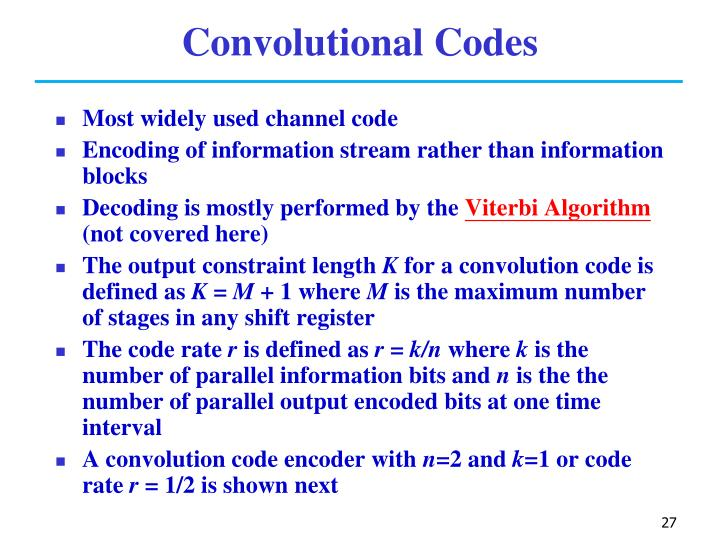 Convolutional Codes