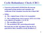 cyclic redundancy check crc1