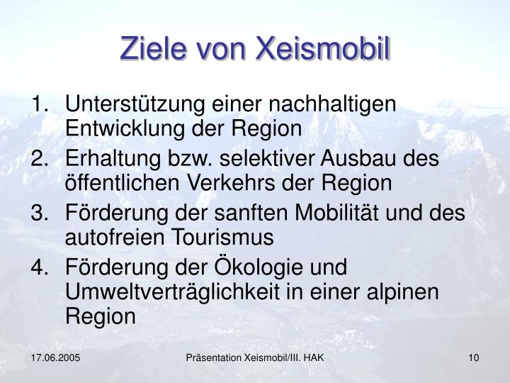 Ziele von Xeismobil