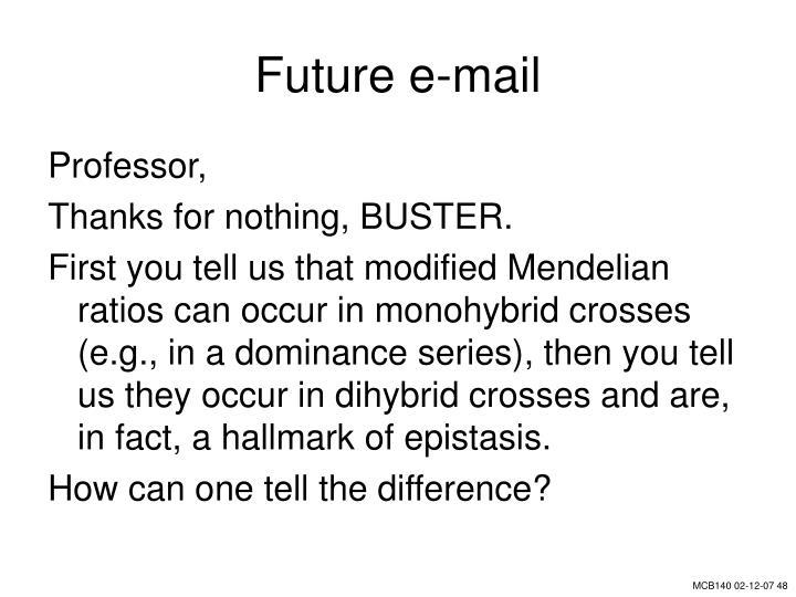 Future e-mail