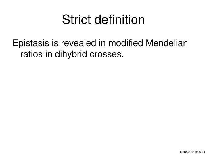 Strict definition