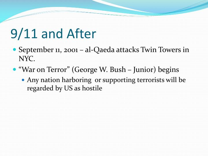 9/11 and After