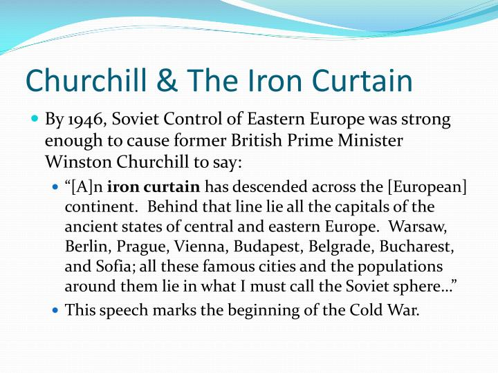 Churchill & The Iron Curtain