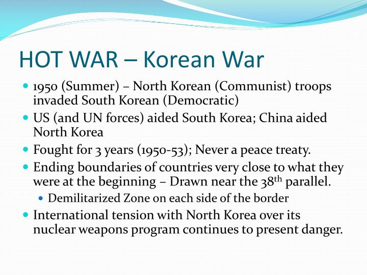 HOT WAR – Korean War