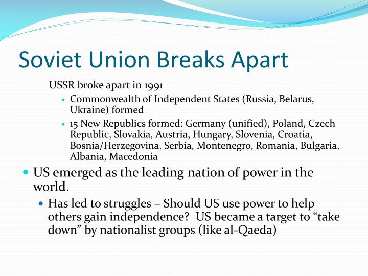 Soviet Union Breaks Apart