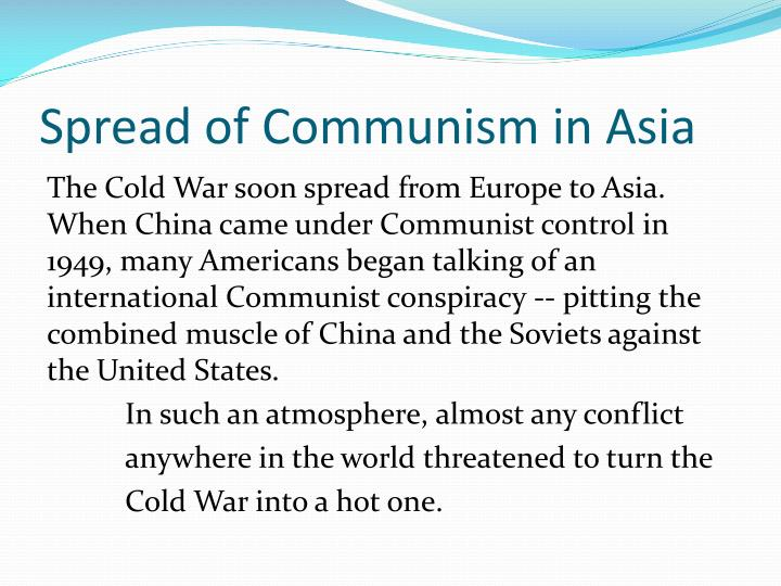 Spread of Communism in Asia