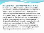the cold war summary of what it was