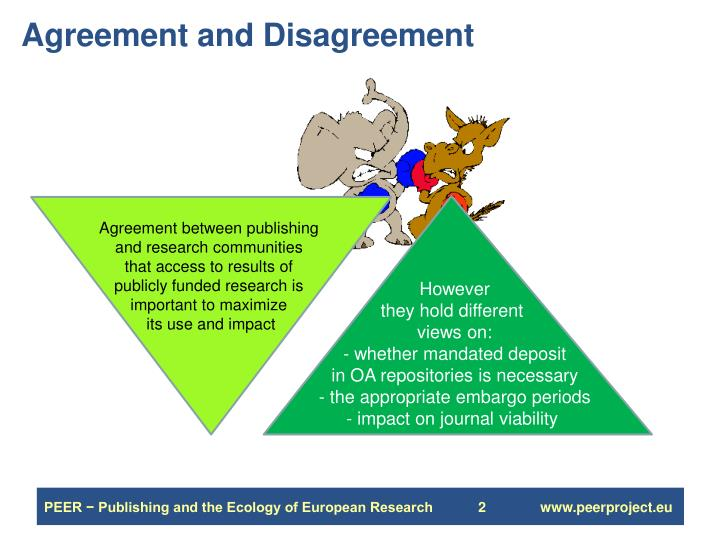 Agreement and disagreement