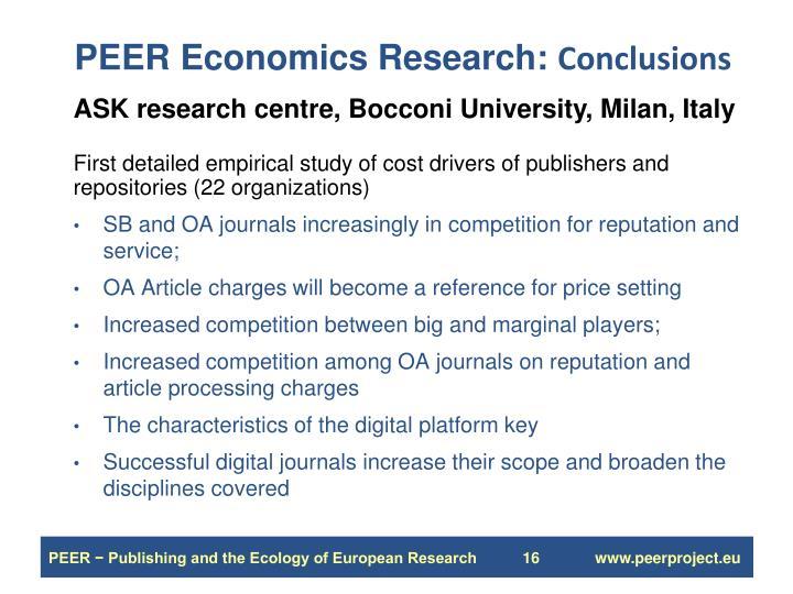 PEER Economics Research: