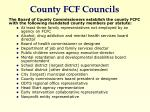 county fcf councils