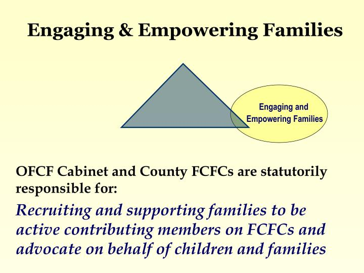 Engaging & Empowering Families