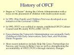 history of ofcf