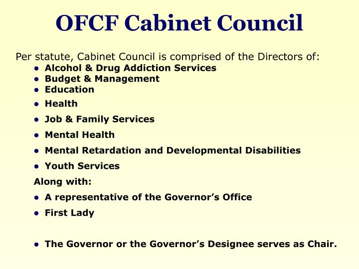 OFCF Cabinet Council