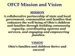 ofcf mission and vision