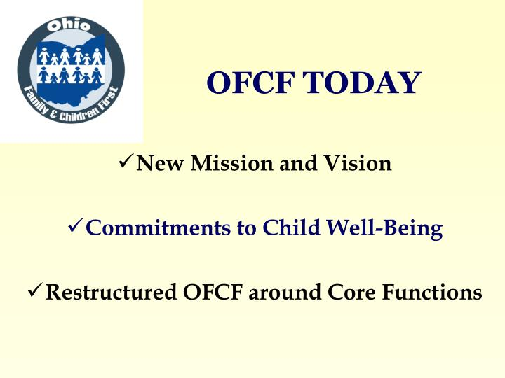 Ofcf today
