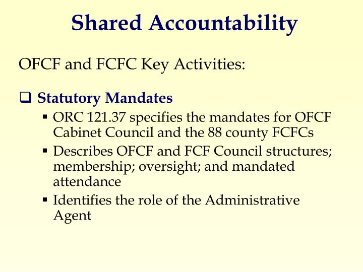 Shared Accountability