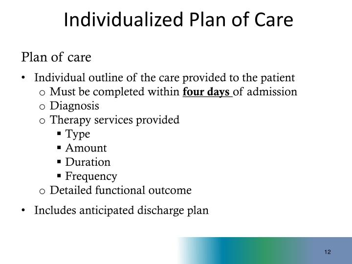 Individualized Plan of Care