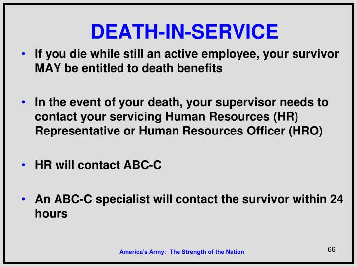 DEATH-IN-SERVICE