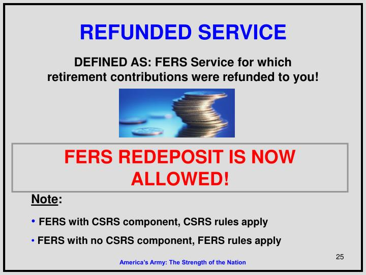 REFUNDED SERVICE