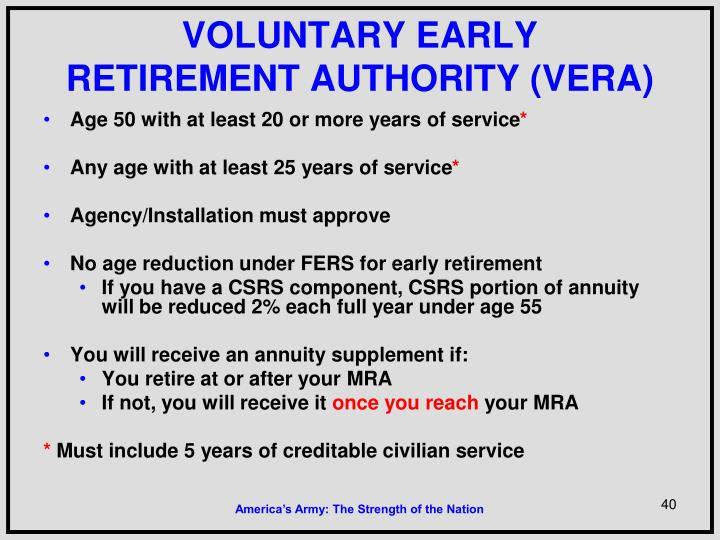 VOLUNTARY EARLY