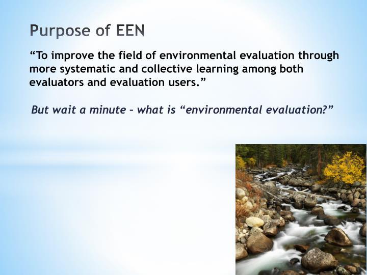 Purpose of EEN