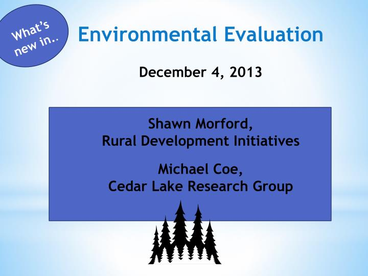 Environmental Evaluation