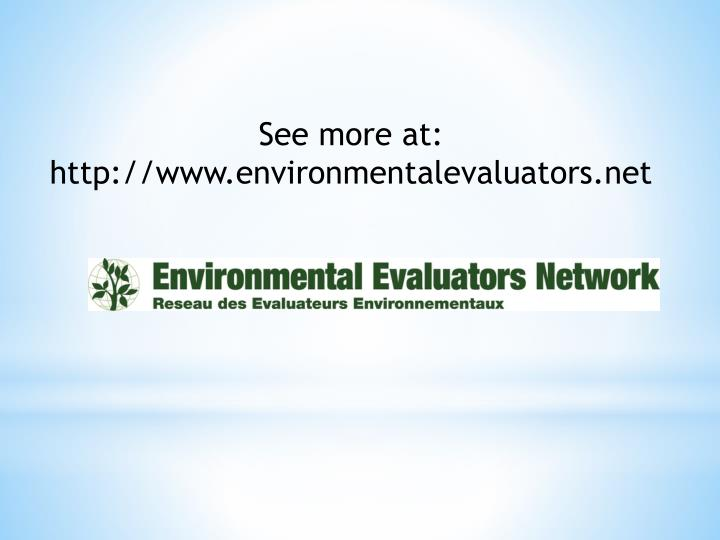 See more at: http://www.environmentalevaluators.net