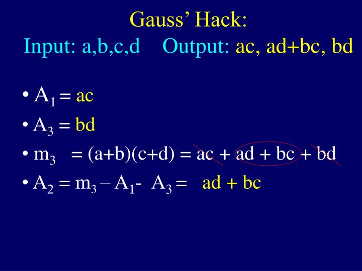 Gauss' Hack: