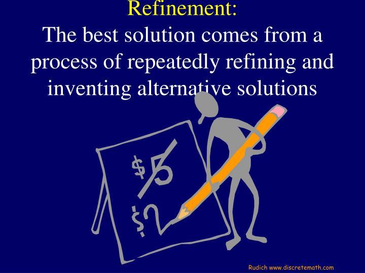 Refinement: