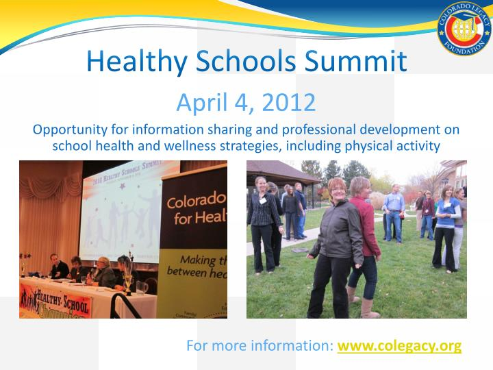 Healthy Schools Summit