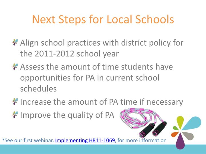 Next Steps for Local Schools